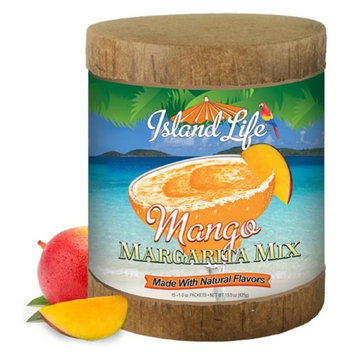 Island Life 2184034 15ct Mango Margarita Mix Eco-Canister - 6 Packs