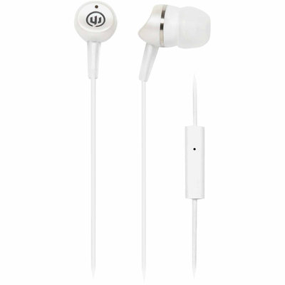 Eforcity Wicked Wi-1954 Metallics Headphones With Microphone, White