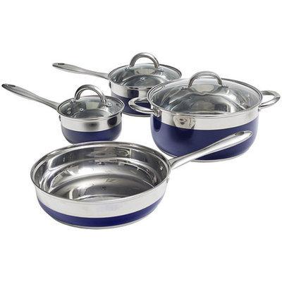 OSTER Oster Merton 7-Piece Cookware Set, Blue Enamel