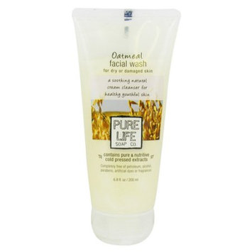 Pure Life - Oatmeal Facial Wash For Damaged Or Aged Skin - 6.8 oz.