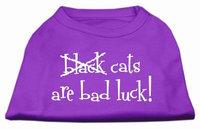 Mirage Pet Products 51-90 XXXLPR Black Cats are Bad Luck Screen Print Shirt Purple XXXL- 20