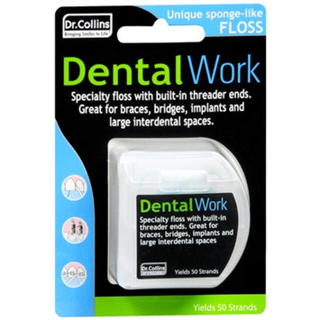 Dr. Collins Dental Work Specialty Floss for Bridges and Implants