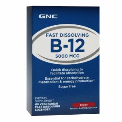 GNC Fast Dissolving B-12 5000mcg Vegetarian Lozenges, Cherry, 60 ea