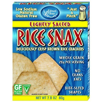 Edward & Sons Rice Snax Lightly Salted, 2.8-Ounce Boxes (Pack of 12)