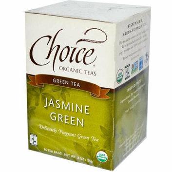 Choice Organic Teas Jasmine Green Tea 16 Tea Bags Case of 6