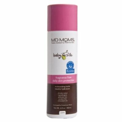MD Moms Baby Silk Fragrance Free Daily Skin Protection Moisturizing Balm, 6.8 oz