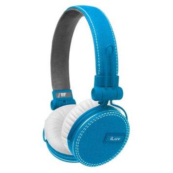 iLuv ReF Deep Bass Canvas On-Ear Headphones - Light Blue