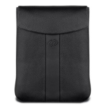 MacCase Premium Leather Vertical Sleeve for iPad (Black)