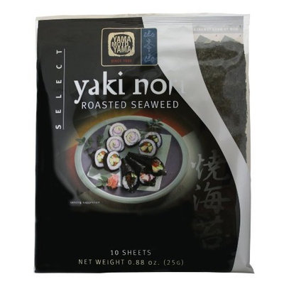 Yamamotoyama Yaki Nori Roasted Seaweed Select, 0.88-Ounce Bags (Pack of 8)