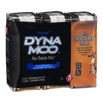 Natrel Dyna Moo 1% Chocolate Milk - 3 CT