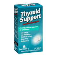 NatraBio Thyroid Support Homeopathic Medicine Tablets - 60 CT