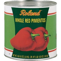 Roland Whole Red Pimientos, 88-Ounce Cans (Pack of 2)