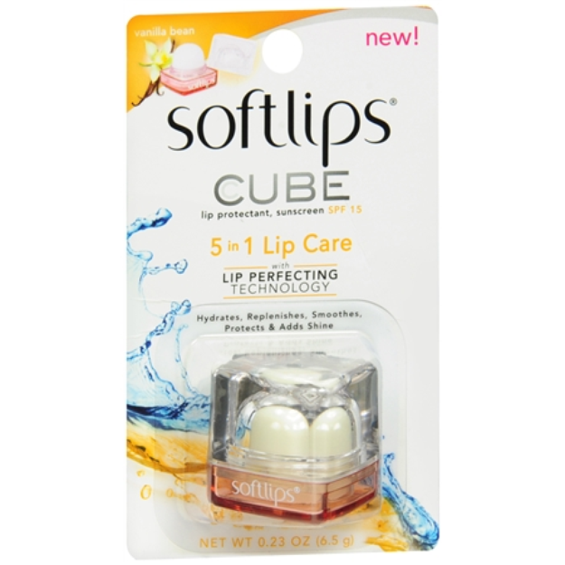 Softlips Cube Lip Protectant, SPF 15 Vanilla