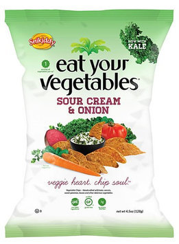 Snikiddy Vegetable Chips 4.5oz Pack of 12