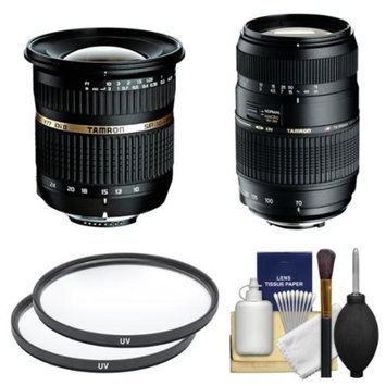 Tamron 10-24mm f/3.5-4.5 Di II SP LD ASP (IF) Lens & 70-300mm f/4-5.6 Di LD Macro Zoom Lens with Filters + Kit for Canon EOS 70D, Rebel T3, T3i, T4i, T5, T5i, SL1 DSLR Cameras