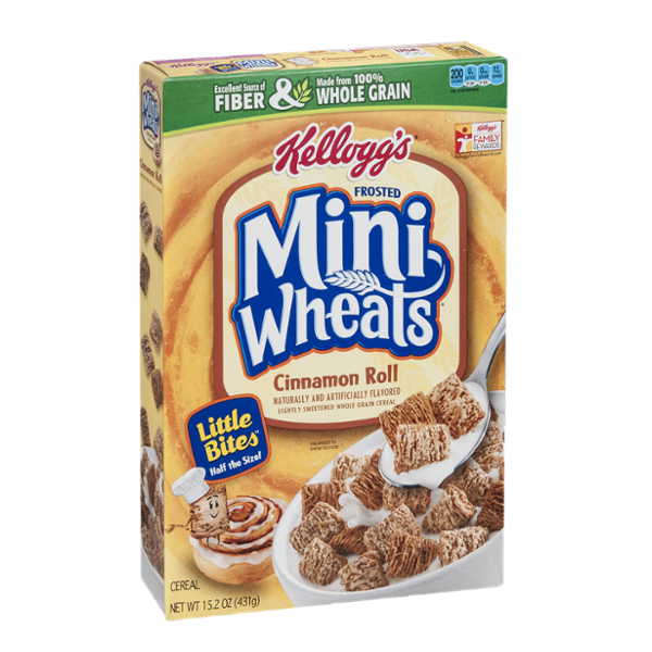 Kellogg's Frosted Mini Wheats Cinnamon Roll Little Bites Cereal