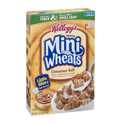Kellogg's Frosted Mini Wheats Cinnamon Roll Little Bites Cereal
