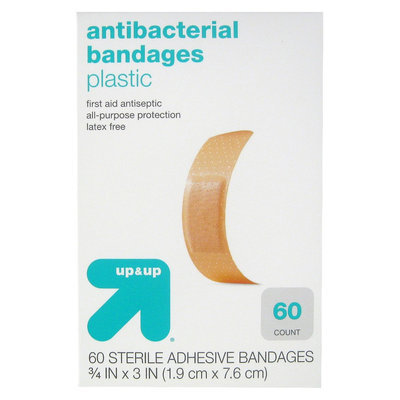 up & up Antibacterial Plastic Bandages - 60 Count