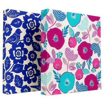 Clementine Paper Greenroom 1.5in Ring Binder Assorted Fabrics