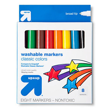 Mega Brands Broadline Markers, Washable, 10ct - up & up