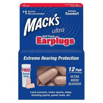 Mack's Utlra Soft Foam Earplugs with Travel Case - 24 Count (12 Pair)