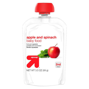 up & up Baby Food - Apple Spinach - 3.5 oz