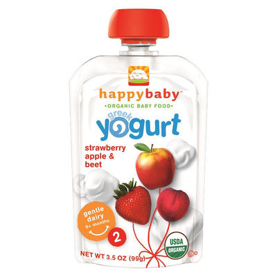 Happy Baby Greek Yogurt Strawberry, Apple & Beet Organic Baby Food - 3.5 oz
