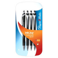 Rubbermaid Paper Mate InkJoy 550RT Ballpoint Pens 4ct Black