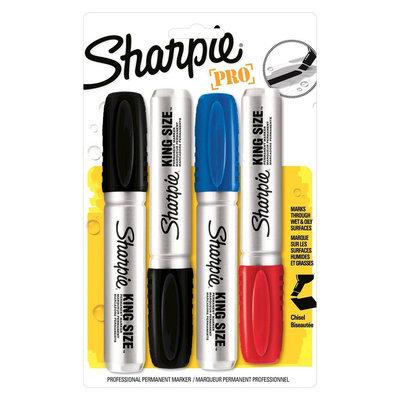 Sharpie 4ct Asst. King Size Permanent Marker