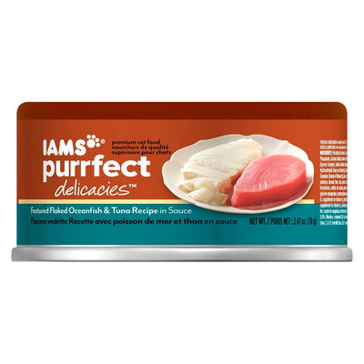 Iams Purrfect Delicacies Wet Cat Food Flaked Oceanfish & Tuna Recipe