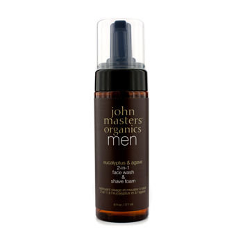 John Masters Organics Men 2-In-1 Face Wash & Shave Foam 177ml/6oz