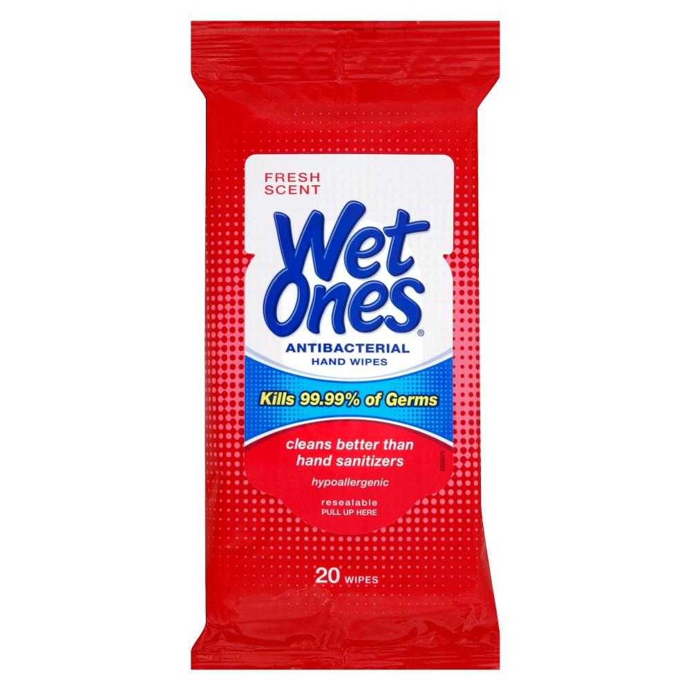 Wet Ones Antibacterial Hand Wipes Fresh Scent 20 ct