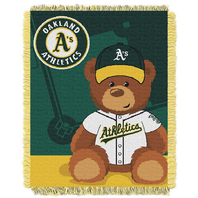 Oakland Athletics Baby Jacquard Throw Field