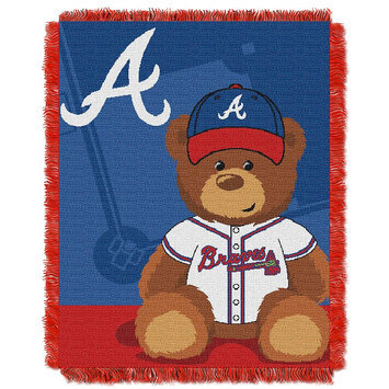 Atlanta Braves Baby Jacquard Throw Field