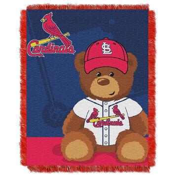 St. Louis Cardinals Baby Jacquard Throw Field