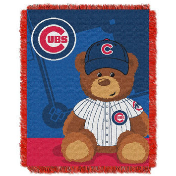 Chicago Cubs Baby Jacquard Throw Field