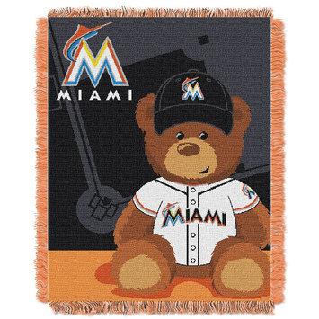 Miami Marlins Baby Jacquard Throw Field