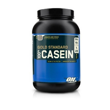 Optimum Nutrition 100% Casein Protein, Cookies and Cream, 2 Pound Pack