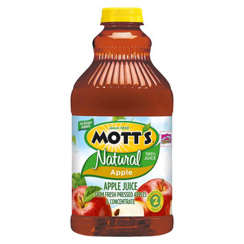 Mott's Motts Natural 100% Juice - Apple - 1 Bottle (64 oz)