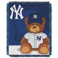 New York Yankees Baby Jacquard Throw Field