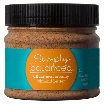 Simply Balanced All Natural Creamy Almond Butter 16 oz