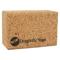 Dragonfly Yoga DragonFly Cork/EVA Yoga Block - Brown (4