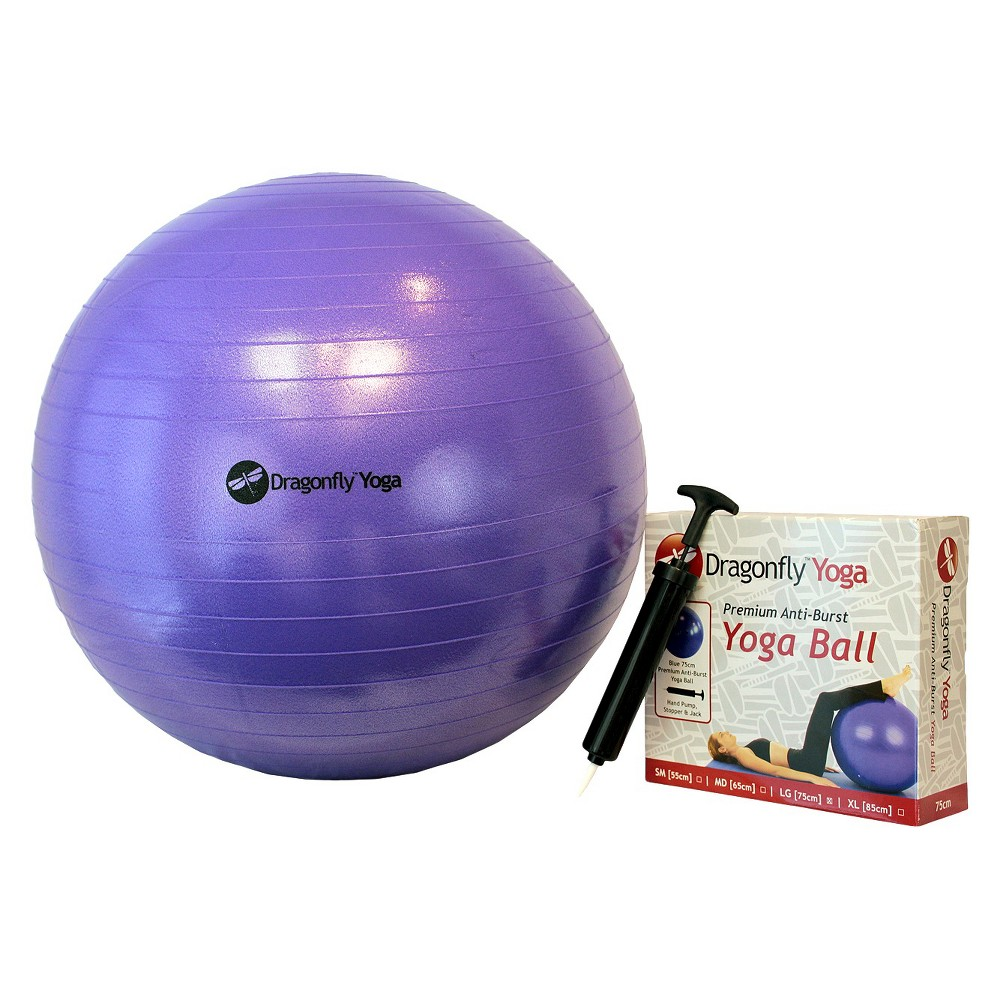Dragonfly Yoga 65-Centimeter Fitness Ball & Pump