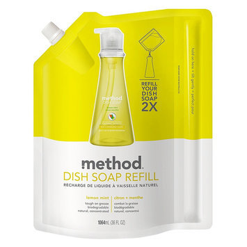 Method Lemon Mint Dish Soap Refill 36 oz
