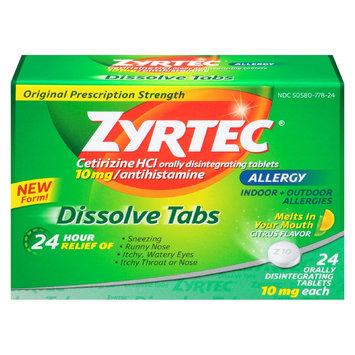 Zyrtec 24 Hour Allergy Dissolve Tablets