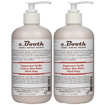 c. Booth Hand Soap - Peppermint Vanilla - 4 oz