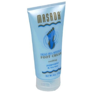 Masada Dead Sea Mineral Foot Cream, Soothing Peppermint & Tea Tree, 6 oz (170 g)