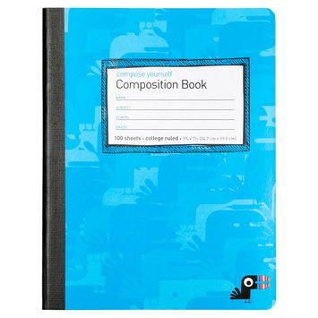 Yoobi Comp Book College Rule - Blue