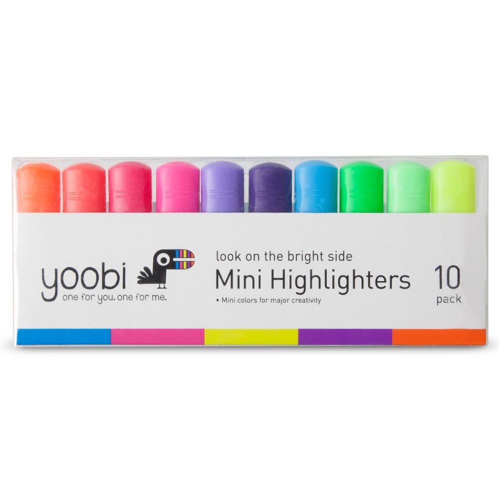 Yoobi 10ct Mini Highlighters - Multicolor