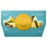Simply Balanced 0% Fruit on the Bottom Pineapple Greek Yogurt 4 oz 4